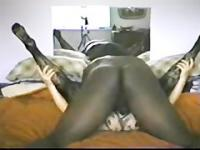 British Wife in Body Stockings enjoys 9 inch Sambar Nigger Dick