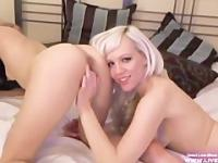 Hot blonde Dahlia fucks her amateur girlfriend