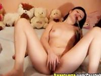 She Enjoyed Stroking her Tight Pussy HD
