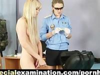 Special medical procedures and gyno exam for shy blonde girl