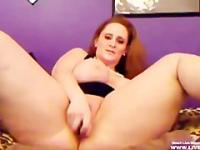 Big asses redhead Sage masturbates and gets squirt