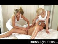 Lesbian threesome massage feat. Uma Zex