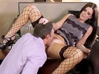 India Summer the hot sexretary plays with her boss