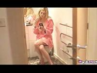 Sister masturbates with her brother in the bathroom JOI