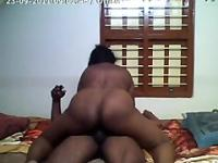 Big Black Telugu Woman with a Perfect Arse sits on an Andhra Black Cobra