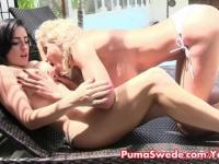 Lesbian Sun Bathing With Puma & Cleo!