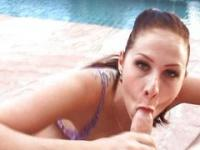 Gianna Michaels poolside fucking