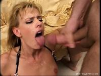 Pretty white MILF has a nasty craving for some dark meat up her butt