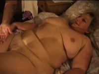 Fat granny gets one horny dude to stick it to her sloppy old cunt
