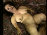 Sexy brunette midget with big boobs loves to get fucked doggy style
