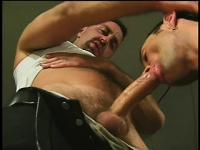 A pair of gay fuckers can't get enough of licking up some hot cum