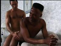 White dude makes hot black guy his bitch by pounding him from behind