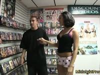 Tia Thomas goes to the adult store to be the featured attraction