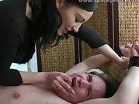 Femdom spit in mouth