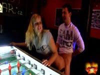 Marry Queen Plays Table Football
