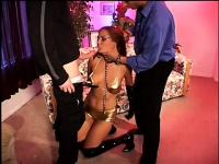 Raunchy latex-loving hussy gets gangbanged and anally creampied