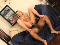 Rebecca Steel gets her pretty pink pussy destroyed by a dark dick