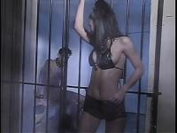 Seductive brunette with perky tits Suzana gets fucked deep behind bars