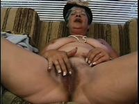 Old cheap prostitute gets face-fucked and pounded by young cock
