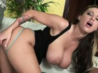 Voluptuous Memphis Monroe deep throats a long rod and gets fucked hard