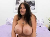 Lustful brunette mom with big hooters Daphne needs to get fucked rough