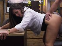 Pawnshop spycam action with a bigass amateur