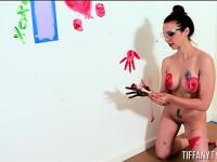 Tiffany Tyler Gets Messy with the Paint