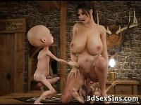 3D Hobbits and Tentacles Fuck Girls!