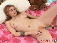 Hairy And Horny Redhead With Her Vibrator