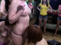 Three coed beauties undergo oral hazing
