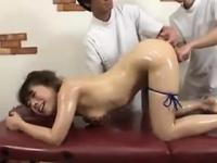 Japanese Girl Gets A Body And Pussy Massage
