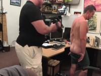 Gaybait pawnshop amateur touching his cock