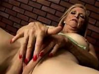 Beautiful Blonde Grandma Masturbates