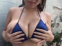 Hot brunette asian hoe with big juggs
