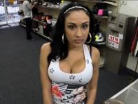 Huge tits latina banged by perv pawn man at the pawnshop