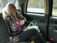 Huge juggs amateur blonde ho ass banged by the driver