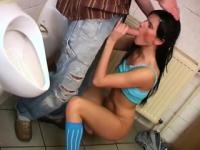 Debbie ravaged in public toilet