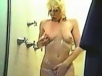 Blonde Showering And Masturbating Classic