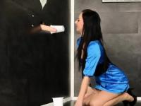 A Slimy Glory Hole Experience For Amber