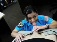 Busty and big ass police officer nailed by pawn man for cash