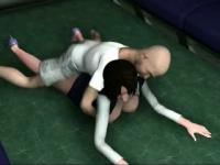 Animated wife getting pounded hard on floor
