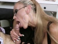 German Milf secretary fucking with her boss in the office
