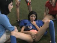 College Girls Finger Banging On Field During Hazing Event