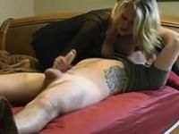 Milf riding young man