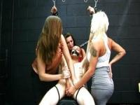 CFNM dominate their bound and gagged sub