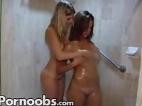 Two hot babes go at it for the first time!