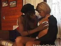 Transgender fucked by Black tranny