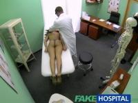 FakeHospital Slim natural young student cums for check up