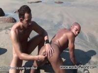 Alan And Anthony: Interracial Gay Couple Fuck Bareback On Public Beach