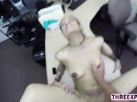 Desperate BF lets the pawnshop owner fucked his GF pussy for a couple of bucks